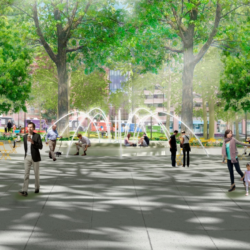 Franklin Park Renewal Render - Fountain