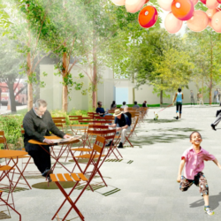 Franklin Park Renewal Render - Kids Playing with Balloons